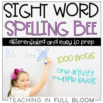 Sight Word Spelling Bee | Differentiated Spelling Bee | Fry's Sight Words