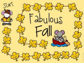Sight Word Spelling Game ~ Fabulous Fall ~ Editable