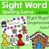 Sight Word Spelling Game ~ Gingerbread ~ Editable