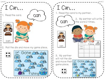 Sight Word Spelling Game ~ Winter ~ Editable
