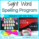 Digital Sight Word Assessment and Spelling Program Bundle