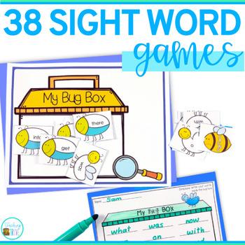 Editable Sight Word - Editable Word Work Games for any list