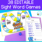 Editable Sight Word and Spelling Games incl. Summer & Back to School