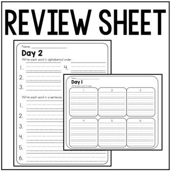 Sight Word/ Spelling Words Practice