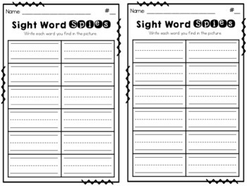 Sight Word Spies! {St. Patrick's Day}