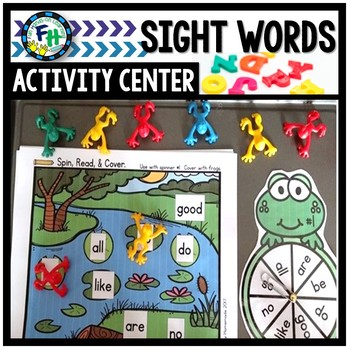 Sight Word Spin, Read, & Cover (Frog Theme)