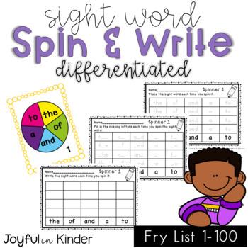 Sight Word Spin & Spell 1-100