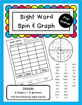 Sight Word Spin and Graph Pre-Primer