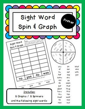 Sight Word Spin and Graph Primer