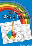 Sight Word Spin and Trace Worksheet Activities
