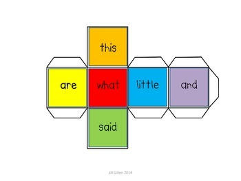 Sight Word Spinner or Cube Game