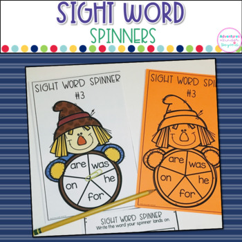 Sight Word Spinners- Fry First 100 Words
