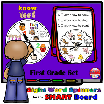SMARTBoard Lesson: Sight Word Spinners - First Grade - Mov