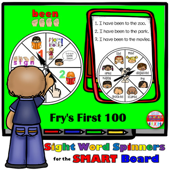 SMARTBoard Lesson: Sight Word Spinners - Fry's First 100 -