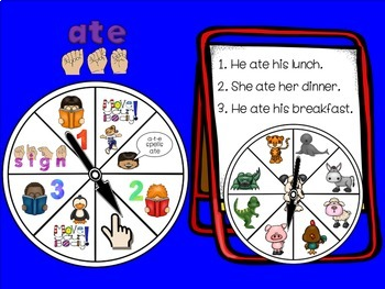 SMARTBoard Lesson: Sight Word Spinners - Primer - Move Your Body!