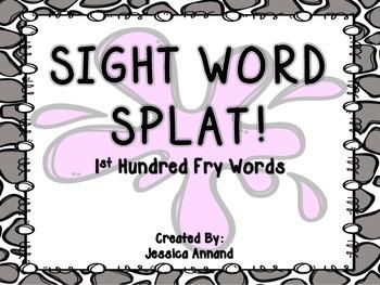 Sight Word Splat 1st Hundred Fry Words