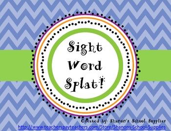 Sight Word Splat! Grade 1 Board Game