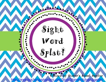 Sight Word Splat! Grade 2 Board Game