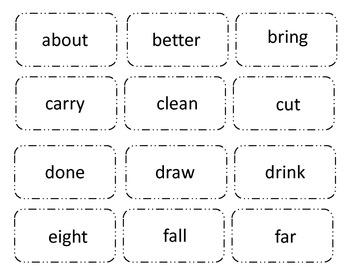 Sight Word Splat! Grade 3 Board Game