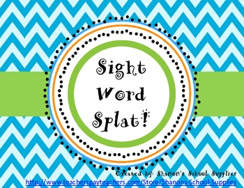 Sight Word Splat! Primer Board Game