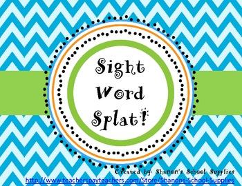 Sight Word Splat! Primer Board Game