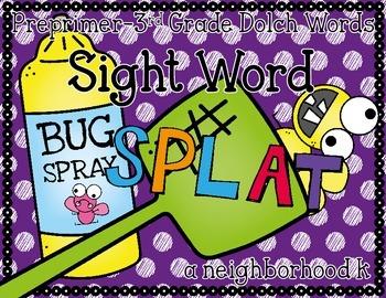 Sight Word Splat