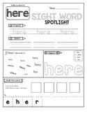 Sight Word Spotlight | List 3