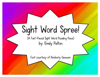 Sight Word Spree! (A Fast-Paced Sight Word Reading Race)