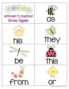 """Sight Word Activities """"Sight Word Spring"""" - Sight Words Reading Game"""