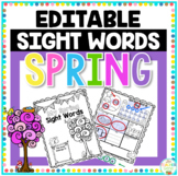 Sight Word Spring Editable Printable Freebie