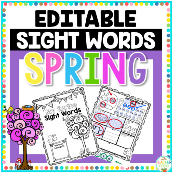image about Printable Freebie called Sight Phrase Spring Editable Printable Freebie