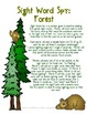 Sight Word Spy: Forest