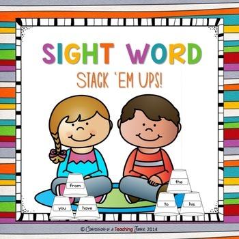 Sight Word Stack Ups 1.1