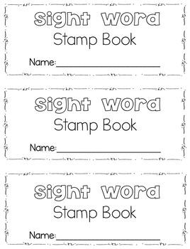Sight Word Stamp Books