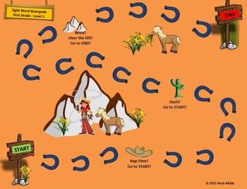 Sight Word Stampede Games - First Grade - Level 1, 2 & 3 Bundle