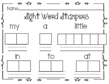 Sight Word Stampers