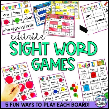 Sight Word Star Board Games - 4 Ways to Play