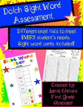 Sight Word Star Differentiated Assessment