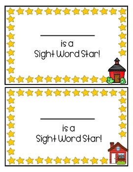 Sight Word Star System Books and Resources