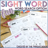 Sight Word Practice Sheets - Word Search Option Distance Learning