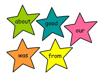 Sight Word Stars - 1st grade