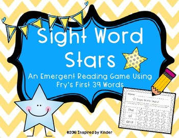 Fry Sight Word Reading Center Game