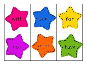 Sight Word Stars Kindergarten Benchmark Aligned