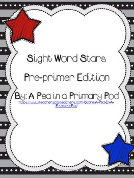 Sight Word Practice Pre-primer Edition