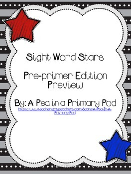 Sight Word Stars Pre-primer Edition Preview