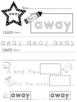 Sight Word Practice Pre-primer and Primer Edition Bundle