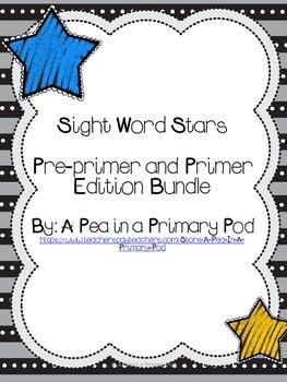 Sight Word Stars Pre-primer and Primer Edition Bundle