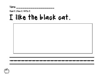 Sight Word Start It Off (Differentiated Kinder Work)