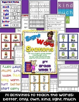 Sight Word Stations {3rd Grade~7}