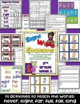 Sight Word Stations {3rd Grade~2}